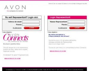 cont pe site-ul Avon