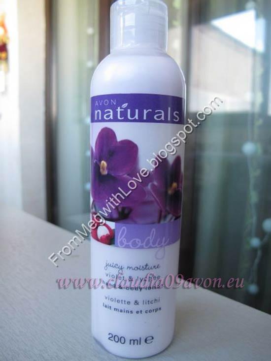 Lotiune de corp cu litchi si violete Avon